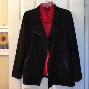 Eileen Fisher Black Moto jacket
